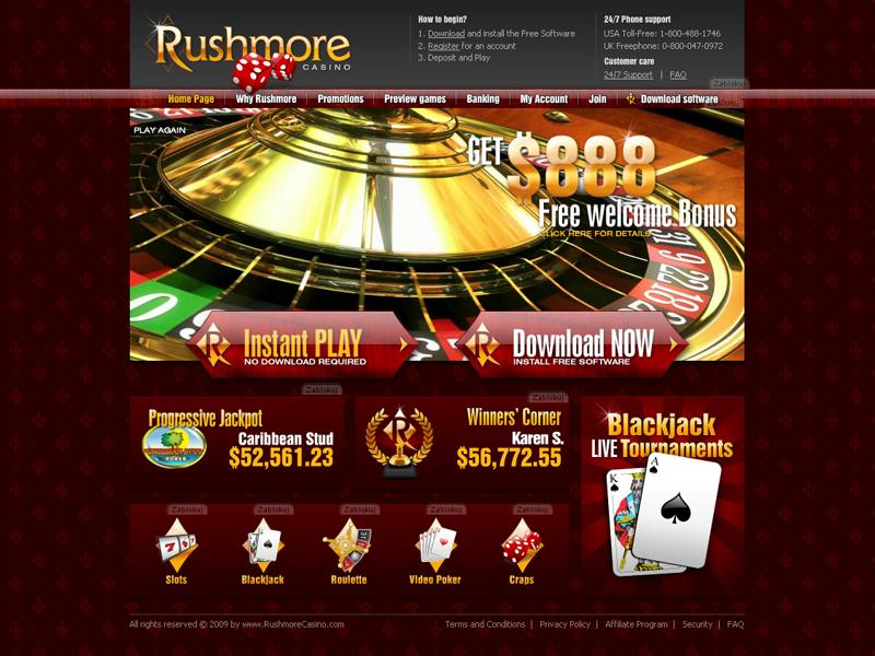 Rushmore online casino no deposit code casino resorts in pa